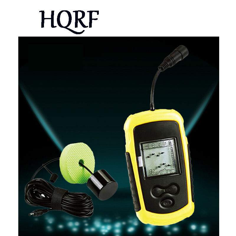 waterproof Portable Fish Finder Depth Sonar Sounder Alarm Transducer Fishfinder 100m echo sounder deeper fishfinder
