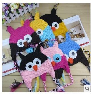Cartoon Designs 100%Cotton Handmade Children Crochet Hats Various Animal Styles 20pcs