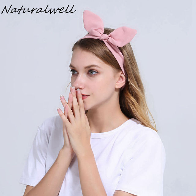Naturalwell S Headband Hair Accessory Headwrap Women Bow Pre Tied Hairband With