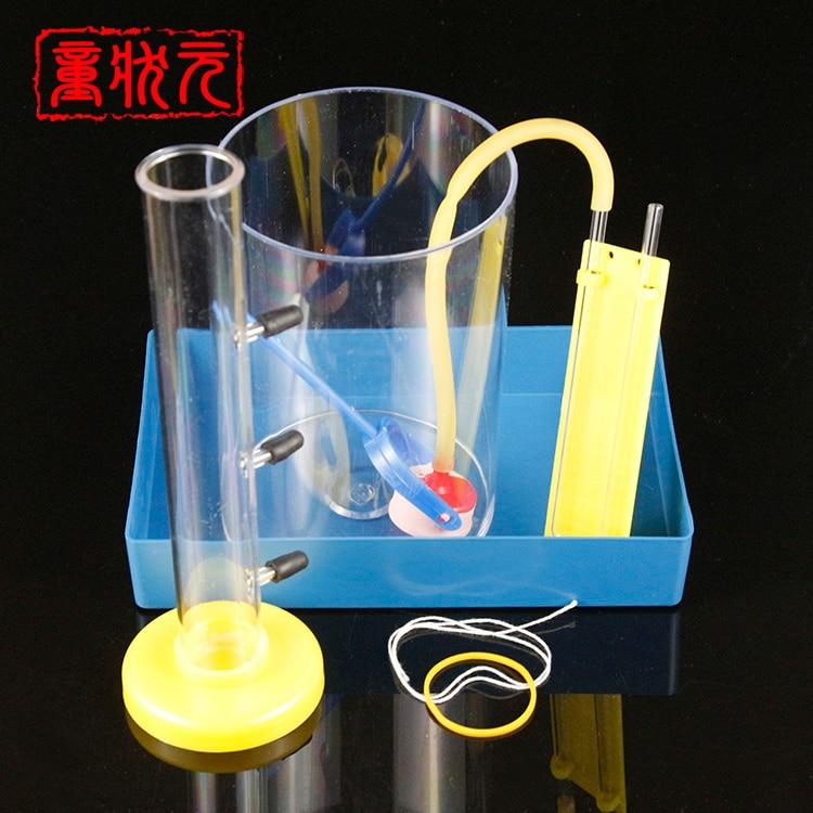 Liquid Pressure And Depth Relations Laboratory Junior High Liquid Pressure Mechanical Experiment