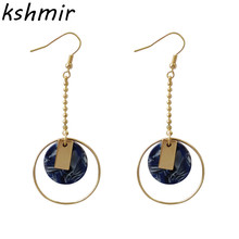 Fashion circle geometry Acetate plate earring Big long earrings jewelry 2018 women