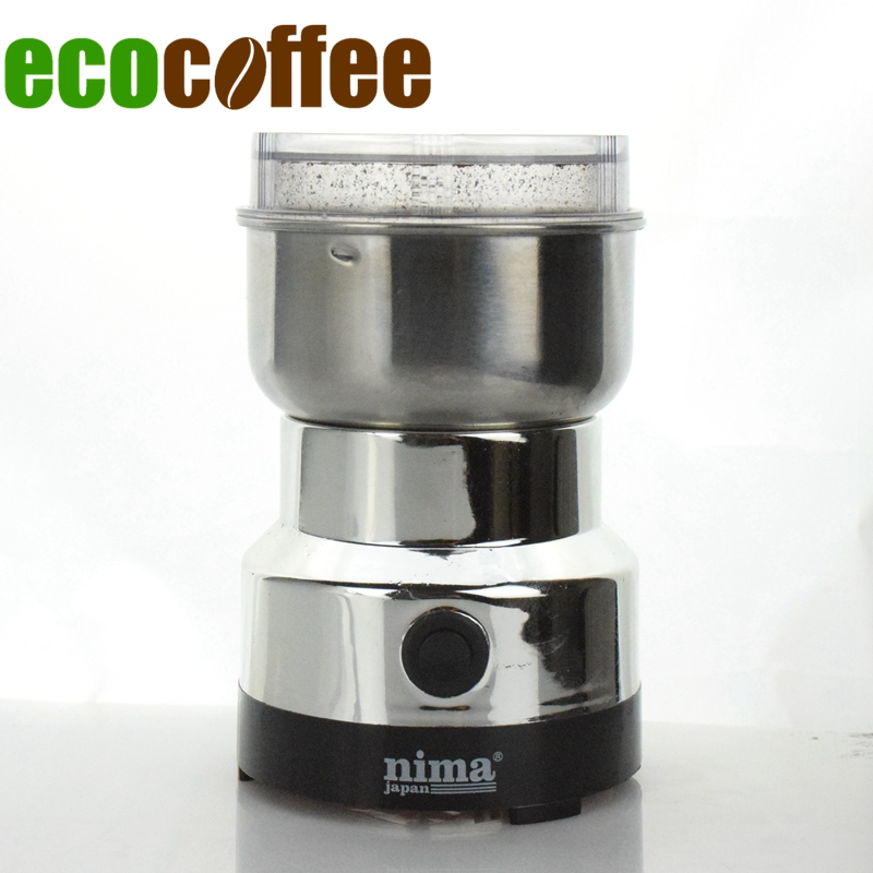 Ecocoffee 220V 50Hz Electrical Coffee Grinder Kitchen Bean Mill Euro Plug