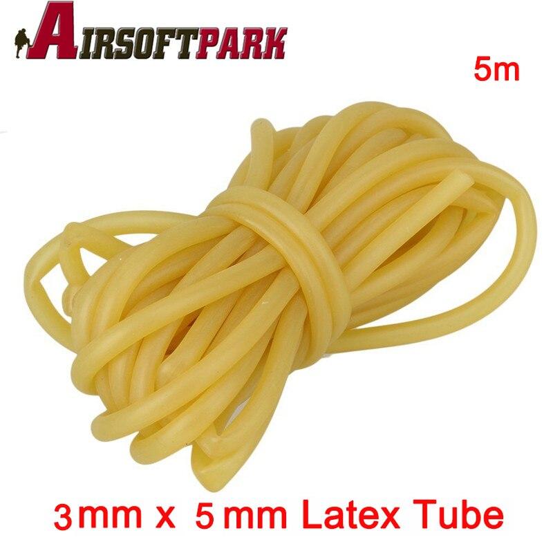 5 m Caza De Goma Tubo 3x5mm Elástica Tubo De Goma de Látex Natural de Tiro con A