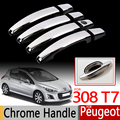 For Peugeot 308 T7 2008-2013 Chrome Handle Covers 308sw 308cc RCZ Trim Set of 4 Good Quality Accessories Stickers Car Styling