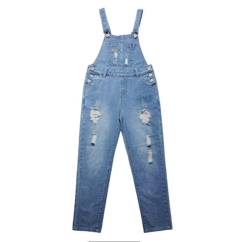 ФОТО WomensDate Latest Autumn Trendy Overalls For Women New Arrival Plus Size Denim Bib Pants Female Bib Pants Female Jeans Overalls
