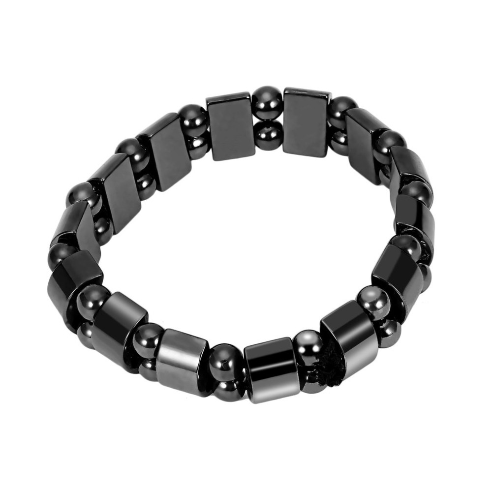 Fashion Black Magnetic Hematite Healing Lose Weight Beads Bracelet Men Women Punk Style Jewelry Charm Bracelets Gift &15 bracelet