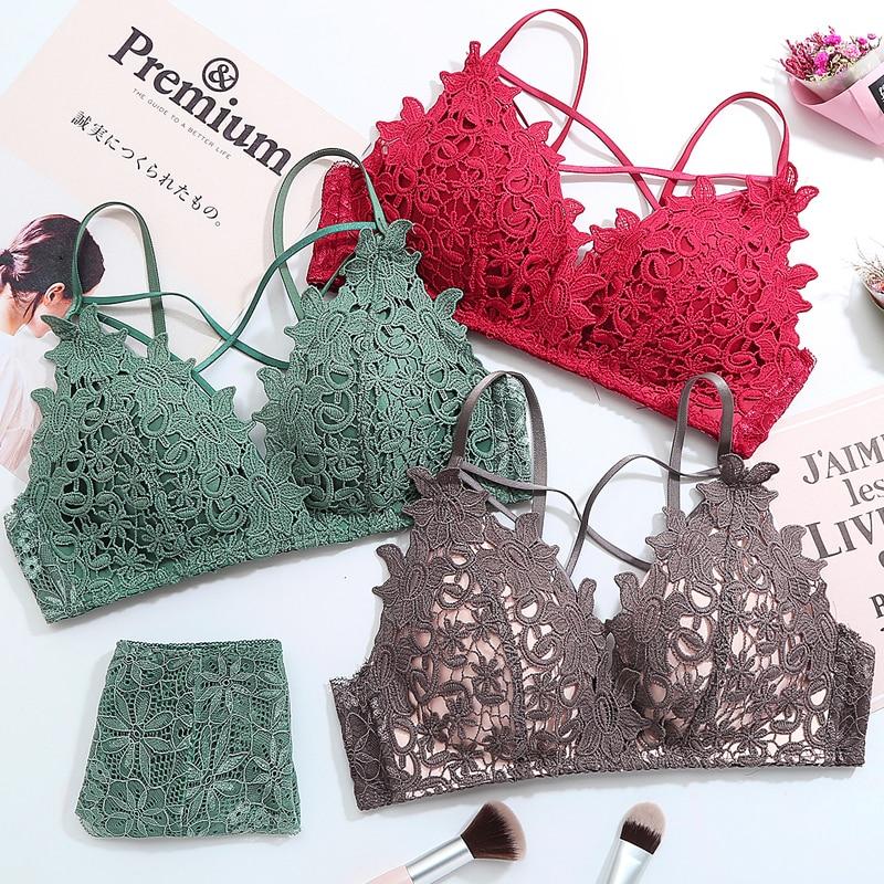 4d3a1b62089 Women Lace Crochet Everyday Perspective Lingerie Bra Skinny Sexy Floral  Bralette Wire Free Active Vra Underwear Bielizna Damska