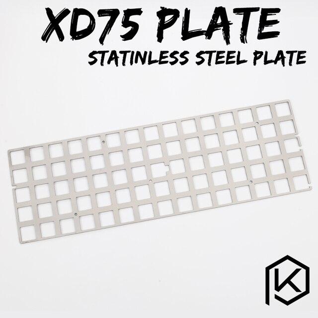 Plaque d'acier inoxydable pour xd75re 60% support de plaque de clavier mécanique clavier personnalisé xd75re