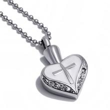 Cross in Heart Memorial Necklace