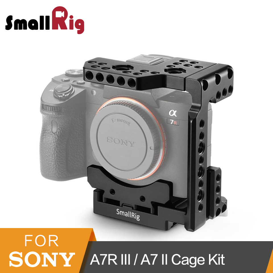 SmallRig Half Cage for Sony A7R III/A7 III/A7 II/A7R II/A7S II Cage With Quick Release Function - 2098 metal quick release roll cage