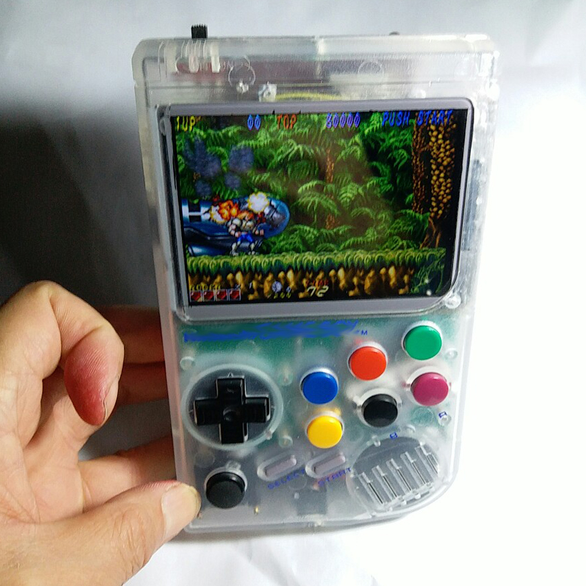 Raspberry Pi gameboy console de jeu portable avec Super HD IPS LCD/Choc joystick/64g besoin cycle de Production disponible 10 ~ 20 jours