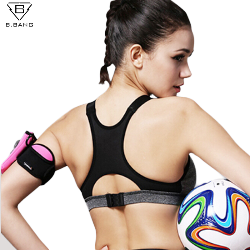 B.BANG Women Yoga Bra Sports Bra for Running Gym Fitness Athletic Bras Padded Push Up Tank Tops For Girls ropa deportiva S-XL free shipping ocean beach stone water floor wallpaper street kitchen waterproof self adhesive non slip floor mural