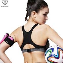 Купить с кэшбэком B.BANG Women Yoga Bra Sports Bra Running Gym Fitness Athletic Bras Padded Wire Free Push Up Tank Tops For Girls and Women