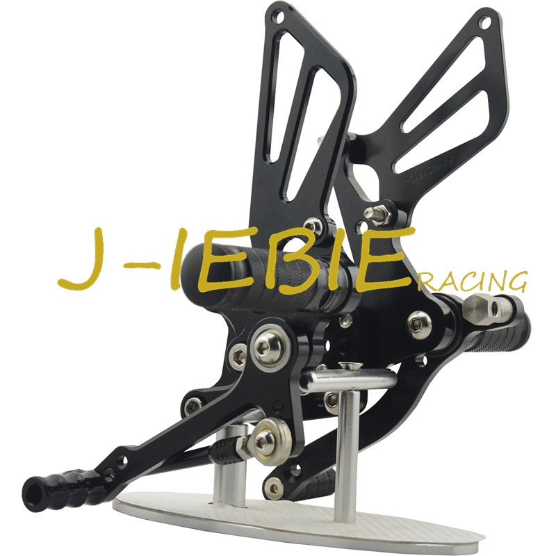 CNC Racing Rearset Adjustable Rear Sets Foot pegs For Suzuki GSXR1000 2001-2004 GSXR600 GSXR750 2001-2005 SV650 SV1000 BLACK adjustable rider rear sets rearset footrest foot rest pegs gold for suzuki gsxr600 gsxr750 gsxr 600 750 2011 2012 2013 2014 2015