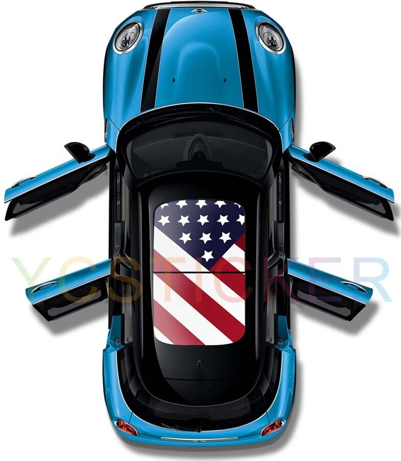 O mais novo produto para 2017 proteção gráficos panorâmica do telhado do  carro da bandeira nacional adesivos decal ver através do teto solar do carro  filme ... bba9a48935