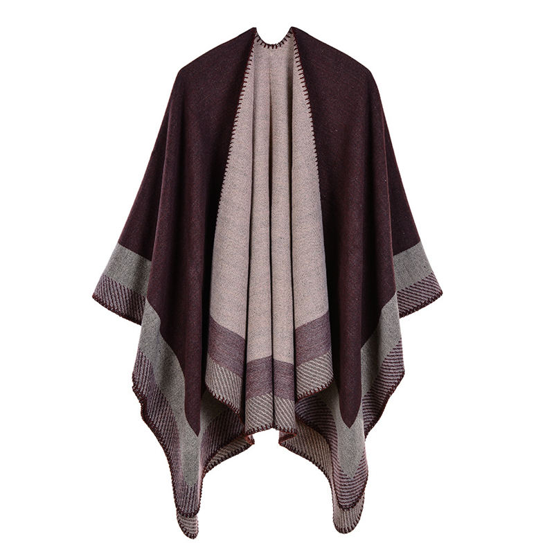 2019 Designer women poncho and cap Vintage Blanket scarf for lady pashmina knitted warm winter cashmere pashmina scarves coat in Women 39 s Scarves from Apparel Accessories