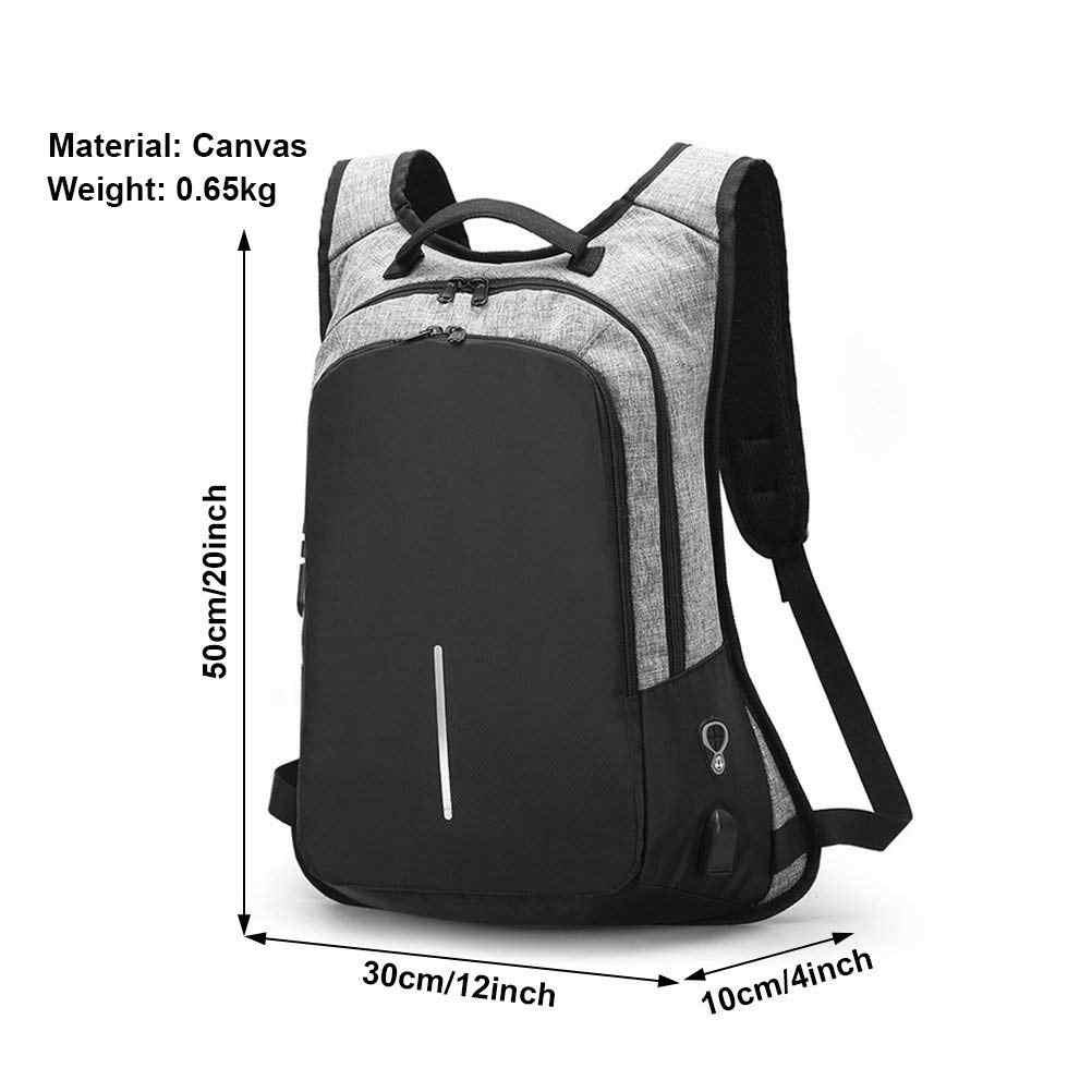 Hommes voyage sacs à dos adolescent étudiants USB rechargeable sac à dos pour ordinateur portable hommes mot de passe serrure Anti-vol sac à dos ordinateur sacs d'école