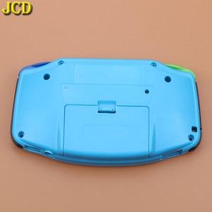 Image 3 - Jcd 1 pcs 풀 세트 하우징 쉘 케이스 커버 + 스크린 렌즈 프로텍터 + 게임 보이 어드밴스 gba 콘솔 용 스틱 라벨
