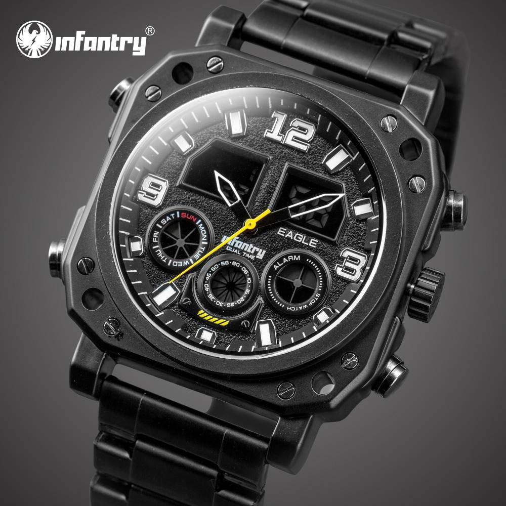 INFANTRY Mens Watches Top Brand Luxury Analog Digital Military Watch Men Tactical Wrist Watches for Men Clock Relogio Masculino infantry mens watches top brand luxury chronograph military watch men luminous analog digital watches for men relogio masculino