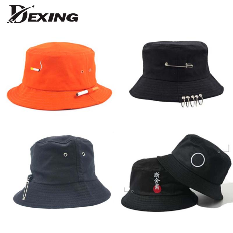 b254a91e9c0f7 Men Summer Sun Cap sad boys Beach BTS Bucket Hat Panama Two Side ...