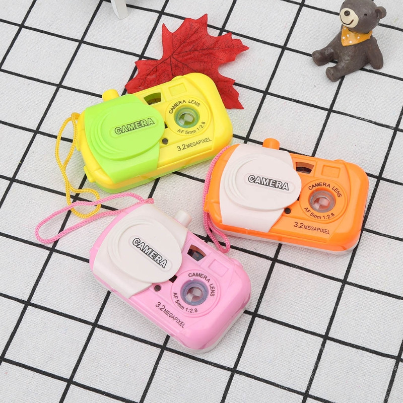 Ootdty Toys Projection Digital Camera Toy Educational Toy Simulation Play Toys Gift For Kids