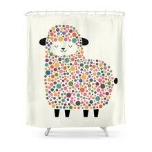 Bubble Sheep Shower Curtain Custom For Bathroom Waterproof PolyesterChina