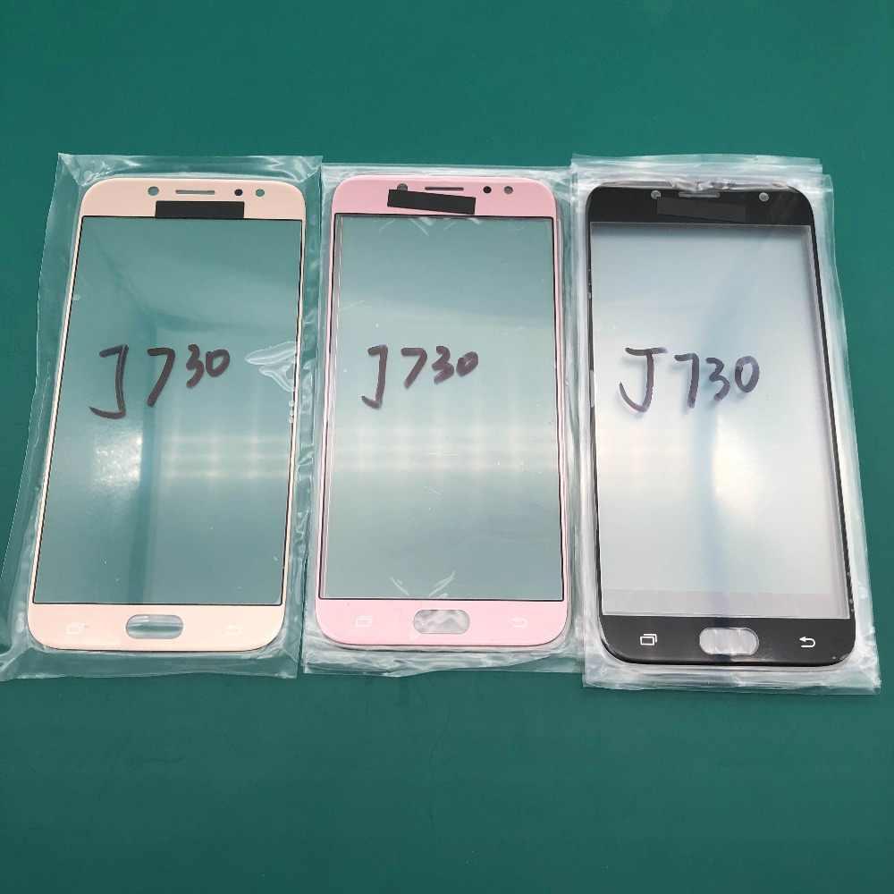 2 قطعة عالية نوعية جيدة الجبهة LCD تعمل باللمس الزجاج الخارجي عدسة استبدال ل sm j730 J730F 2017 إصلاح