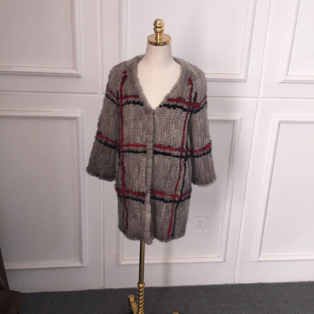 f2817029c € 270.15 |2016 nueva primavera de la moda tejido importado de visón abrigo  de 70 80 cm en Abrigos de Piel de La ropa de las mujeres en ...