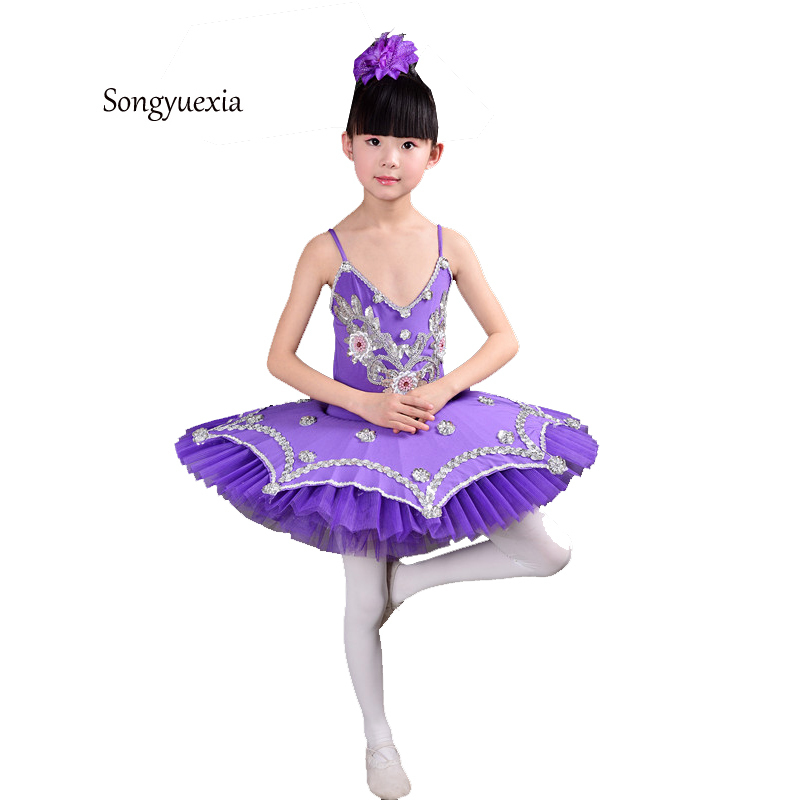 New Children S Suspenders Ballet Skirts Swan Lake Dresses Adult Suspenders Dancing Sequins Ballet TUTU Dresses