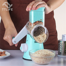 TTLIFE Mandoline Slicer Manual Vegetable Cutter with 3 Stainless Steel Blades Onions Potato Carrot Grater Kitchen Tools