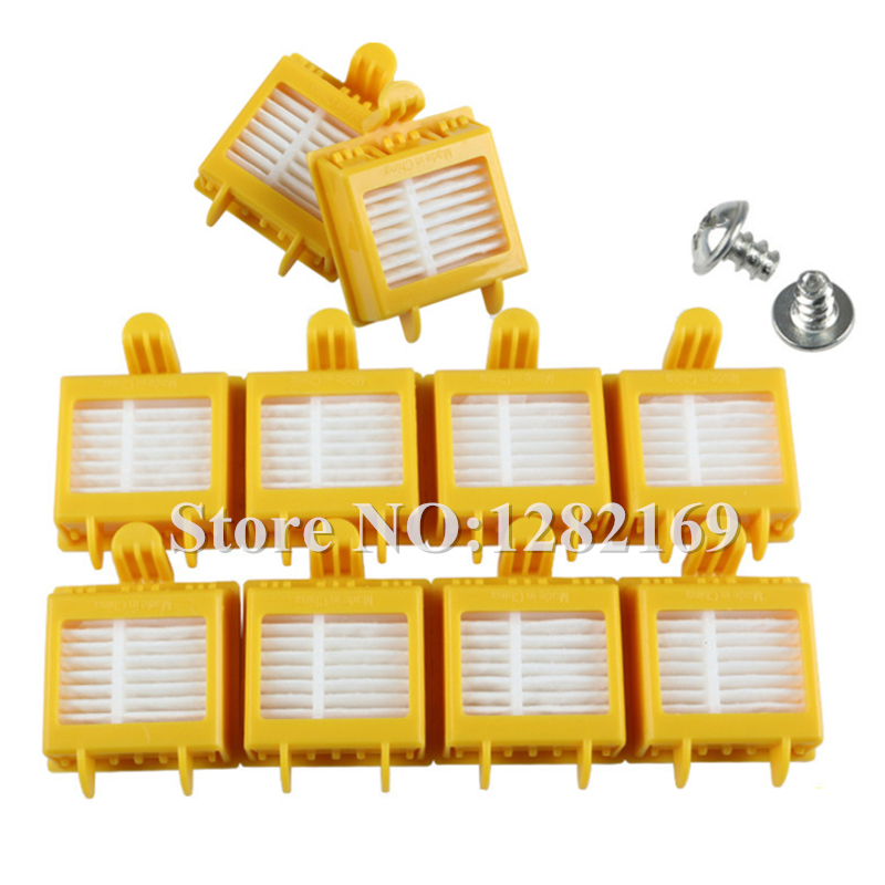 10x Replacement Filter and 2x Srew for iRobot Roomba 700 Series 760 770 780 790 Vacuum Cleaner HEPA Filter