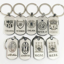 Football Club Keychain Chelsea Metal Keyring Europe's Football leagues Key Chain Bag keychains Car Pendant gift for men(China)