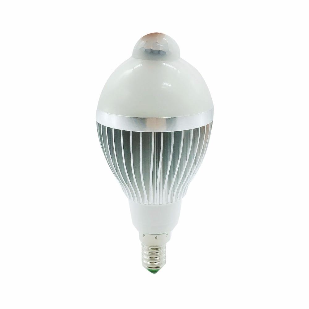 PIR Motion Sensor Light E14 220V LED Lamp 5W 7W 9W Bulb Auto Smart PIR Infrared Body Lamp With The Motion Sensor Lights