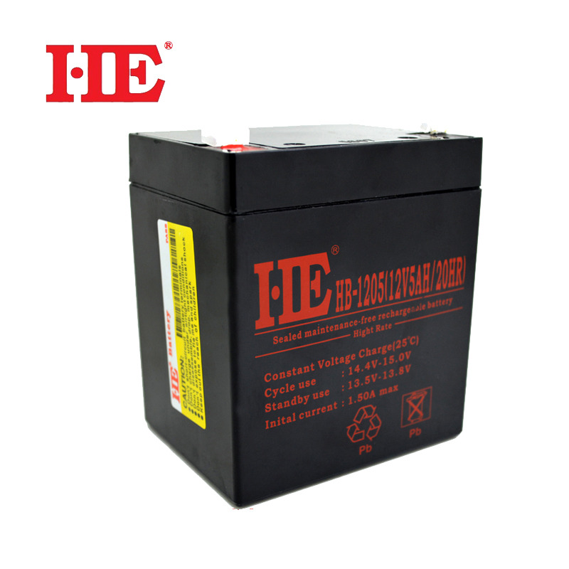 HE 90*70*101mm <font><b>12V</b></font> 5AH Deep Cycle AGM Storage UPS Battery Rechargeable Sealed Lead Acid Battery Replace 4AH <font><b>4.5AH</b></font> <font><b>12V</b></font> image