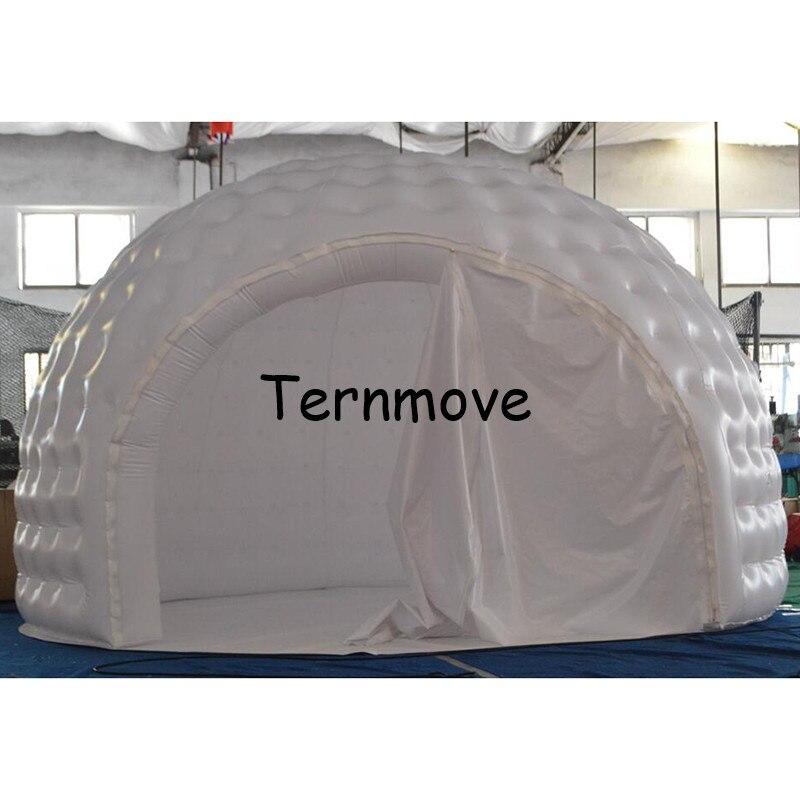 Белый надувная, двойная слой надувная палатка надувные открытый проекции купольная комната отдыха, надувные палатки для событий