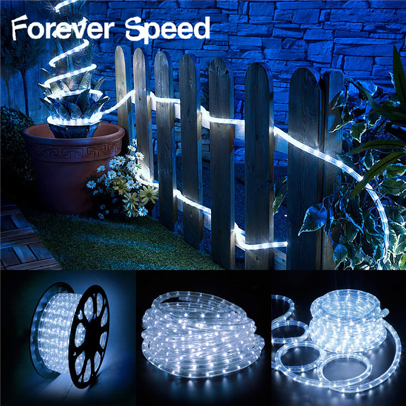 led lights decoration christmas birthday lights outdoor 50m connector LED lighting strips outdoor and indoor cool white IP65