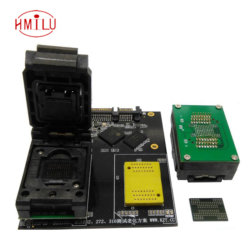 цена на BGA132/BGA152/BGA88/BGA136 to DIP48 Adapter IC Test Socket Burn in Socket Programmer Socket With Board Clamshell Structure