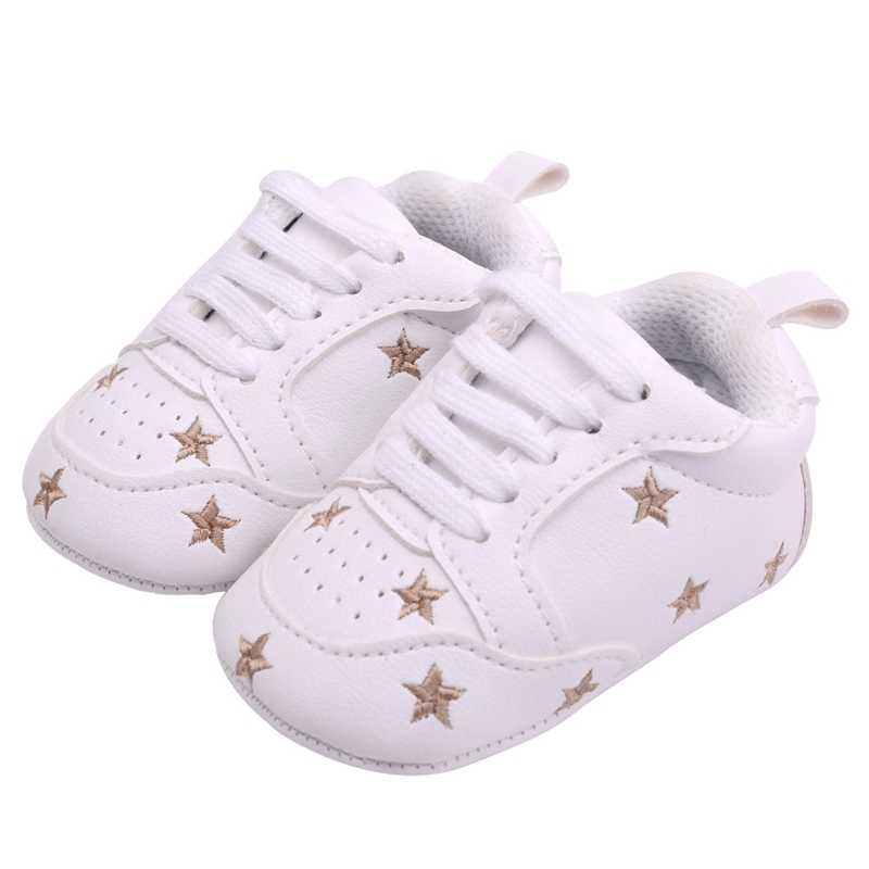 a77d3a33b ... 2019 Baby Girl Shoes Baby Moccasins Infant Sneakers Heart Star First  Walker Toddler Soft Sole Crib ...