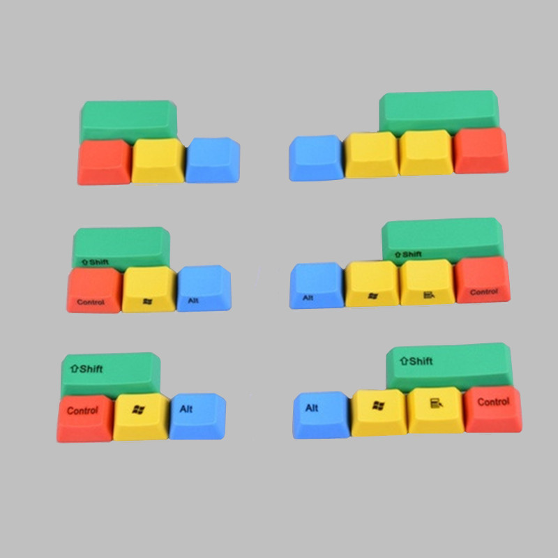 PBT Keycaps RGBY 9Keyset For MX Switches 61/66/87/104/108 Keys Mechanical Gaming Keyboard