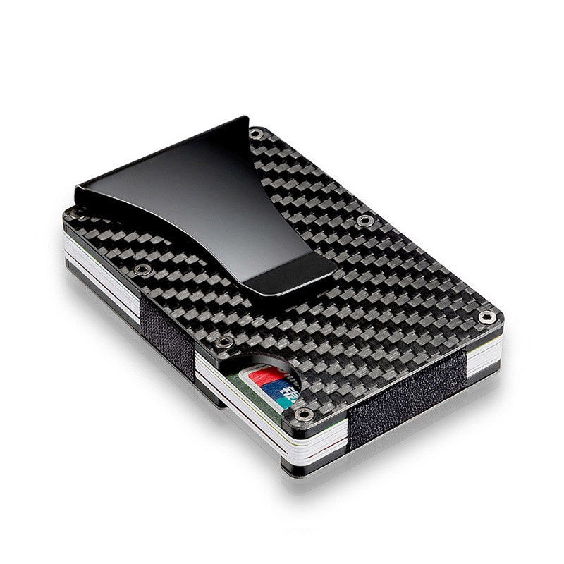 Clip Wallet Credit-Cards Carbon-Fiber Metal Multiple-Debit Ultra-Thin Carteira Accommodate title=