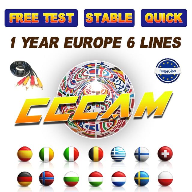 DVB-S2 CCcam Cline cho 1 Năm Châu Âu TRUYỀN HÌNH Vệ Tinh Receiver GTmedia V8 Nova Freesat V7 Clines Bồ Đào Nha Máy Chủ Miễn Phí CCcam cline