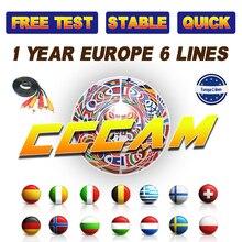 DVB-S2 CCcam Cline için 1 Yıl Avrupa uydu tv alıcısı GTmedia V8 Nova Freesat V7 Clines Portekiz Sunucular Ücretsiz CCcam Cline