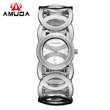 AMUDA Top Luxo Marca Assista Mulheres Moda Simples Lady Pulseira Criativo relógios de Pulso de Quartzo Relogio feminino orologio donna