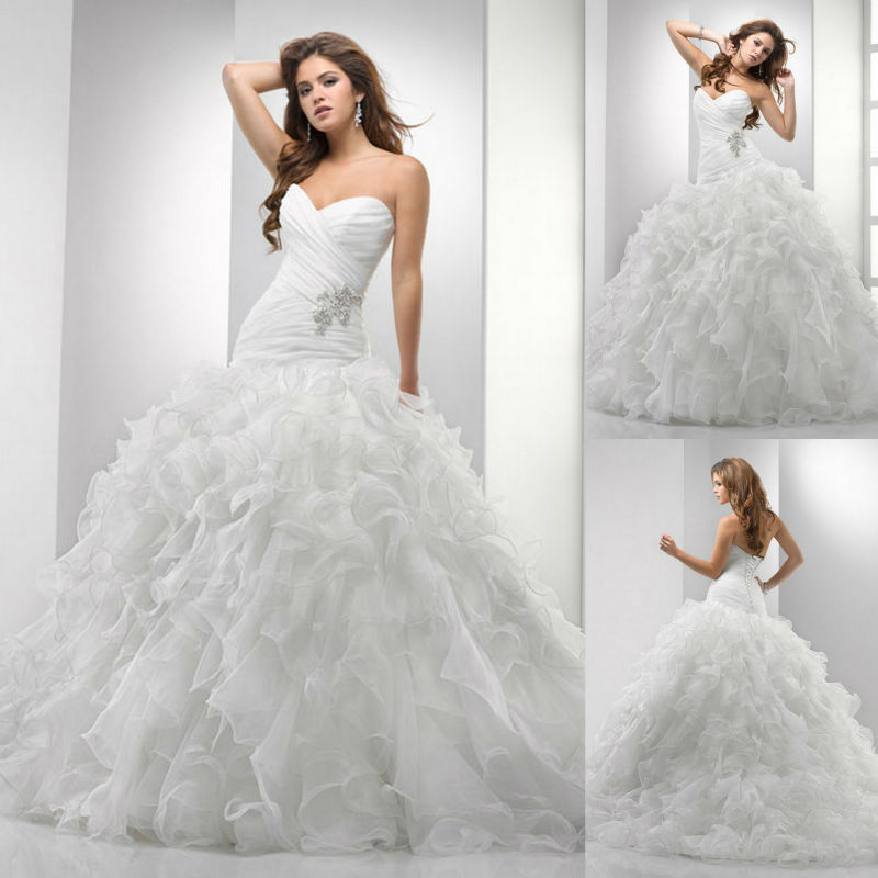Pictures Of Ball Gown Wedding Dresses: Sweetheart Princess Ball Gown Floor Length Horsehair
