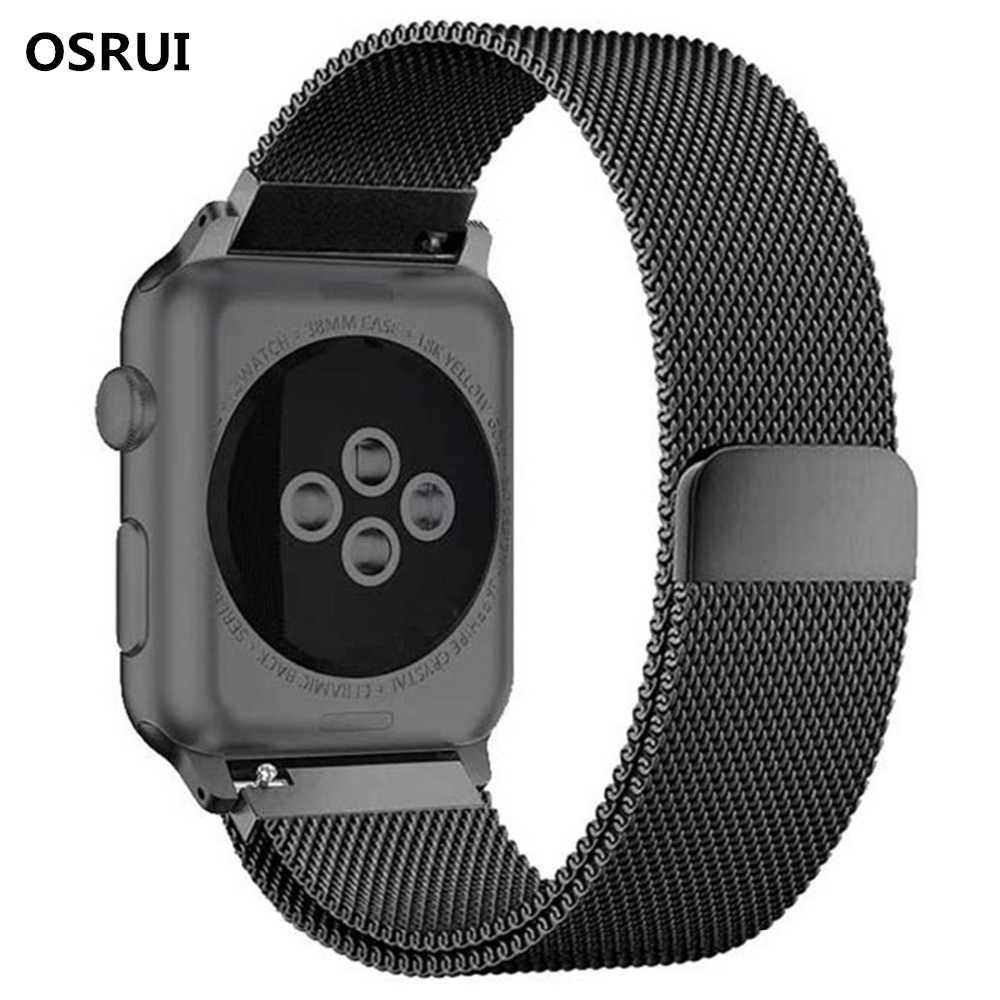 Milanese Loop Strap For apple watch band 4 44mm 40mm correa aple watch 42mm 38mm Stainless Steel Wrist bracelet iwatch 4/3/2/1Milanese Loop Strap For apple watch band 4 44mm 40mm correa aple watch 42mm 38mm Stainless Steel Wrist bracelet iwatch 4/3/2/1