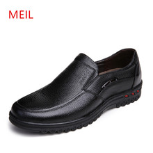 Mens Casual Leather Shoes Men Loafers Luxury Brand Father Mocassin Zapato Hombre