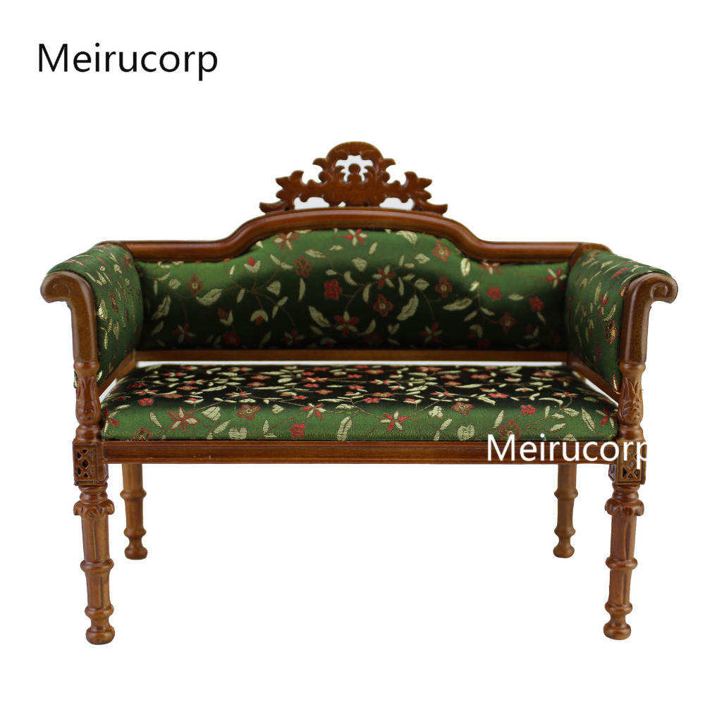 Collectable Dolls Furniture 1:6 scale Sofa Hand Carved