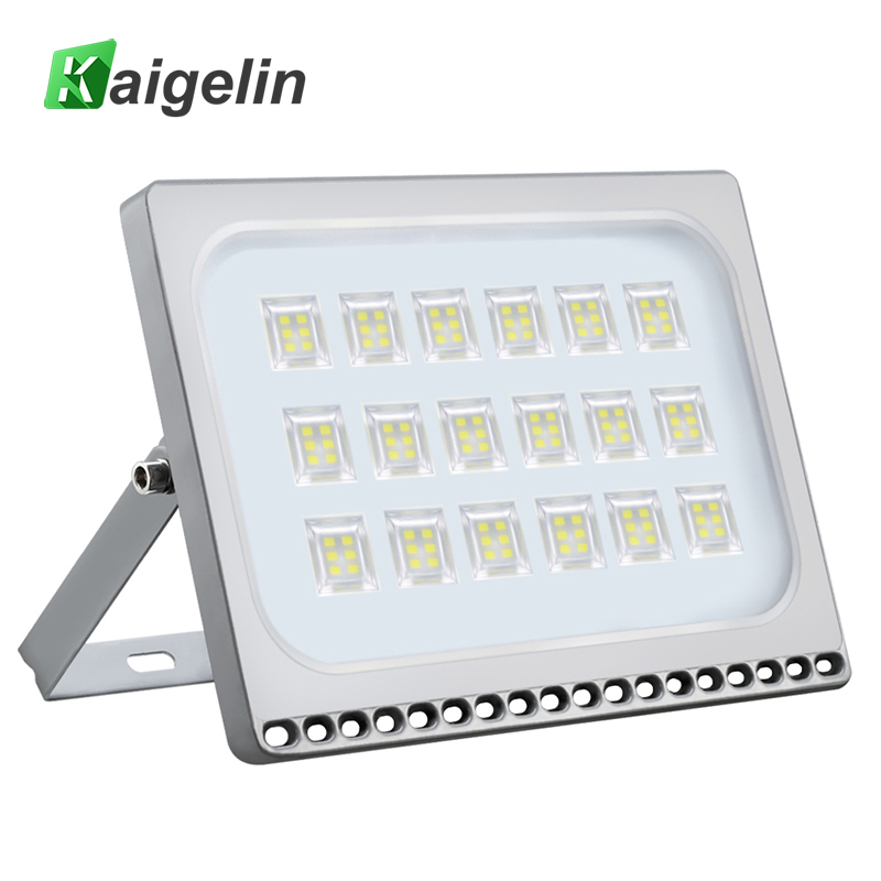Kaigelin 100W LED Flood Light 7000LM Waterproof LED Projector Spotlight Garden Security Wall Lamp Floodlight Outdoor Lighting 100w 7000lm 525nm 100 led green light lamp module 10 series and 10 in parallel 30 34v