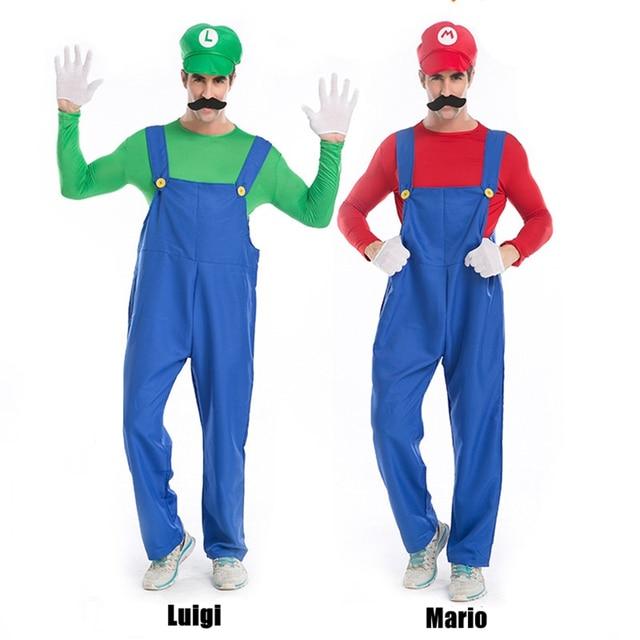 5pcs super mario brothers costumes mario luigi bro halloween