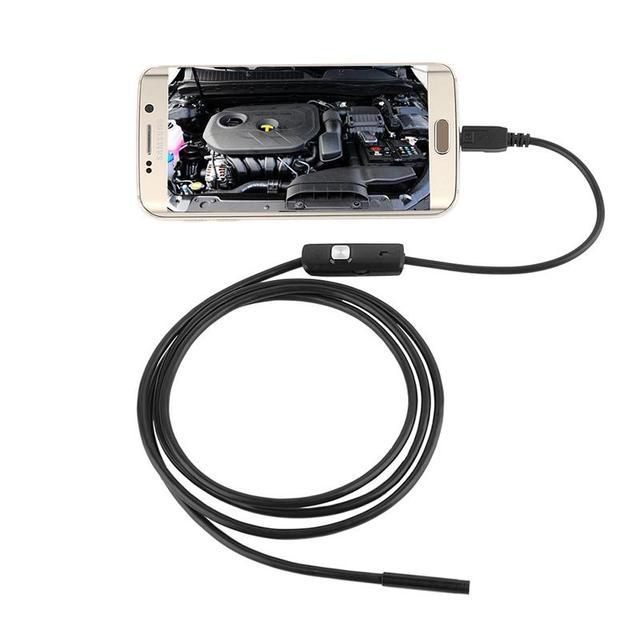 2016 Mais Recentes Produtos de Segurança de 5.5 Mm Telefones Celulares Android Endoscópica Endoscópio Industrial 1 Metro de Comprimento de Boa Qualidade